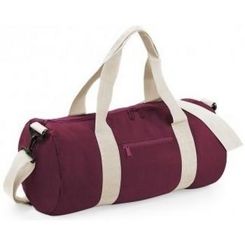 Tassen Reistassen Bagbase BG140 Bourgogne/Off Wit