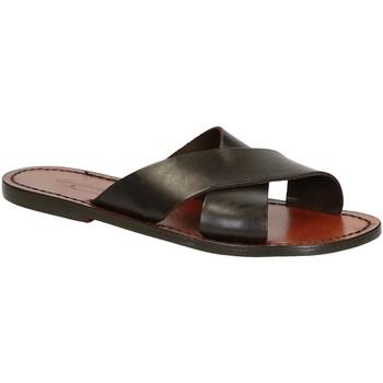 Schoenen Heren Sandalen / Open schoenen Gianluca - L'artigiano Del Cuoio 560 D MORO CUOIO Testa di Moro