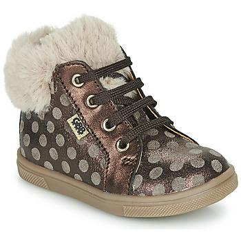 Schoenen Meisjes Hoge sneakers GBB JUNA Brown