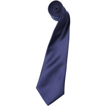 Textiel Heren Krawatte und Accessoires Premier Satin Marine