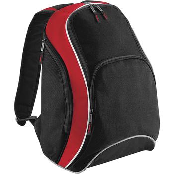 Tassen Rugzakken Bagbase BG571 Zwart/Klassiek Rood/Wit