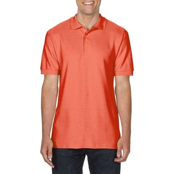 Textiel Heren Polo's korte mouwen Gildan Premium Bright Salmon