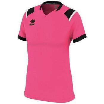 Textiel Dames T-shirts korte mouwen Errea Maillot femme  lenny vert/noir/blanc