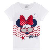 Textiel Meisjes T-shirts korte mouwen TEAM HEROES MINNIE Wit