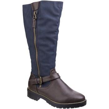 Schoenen Dames Hoge laarzen Divaz  Bruin/Blauw