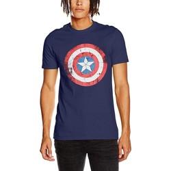 Textiel T-shirts korte mouwen Captain America  Blauw