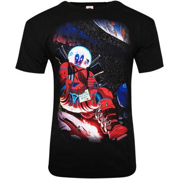 Textiel T-shirts korte mouwen Deadpool  Zwart
