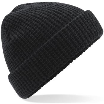 Accessoires Muts Beechfield Waffle Knit Zwart