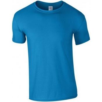 Textiel Heren T-shirts korte mouwen Gildan GD01 Saffier