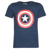 Textiel Heren T-shirts korte mouwen Casual Attitude CAPTAIN AMERICA LOGO Marine