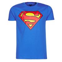 Textiel Heren T-shirts korte mouwen Yurban SUPERMAN LOGO CLASSIC Blauw