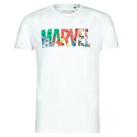 Textiel Heren T-shirts korte mouwen Yurban MARVEL HERO LOGO Wit