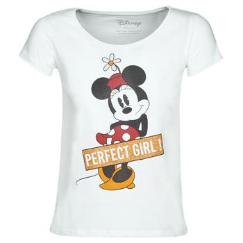 Textiel Dames T-shirts korte mouwen Moony Mood MINNIE PERFECT GIRL Wit