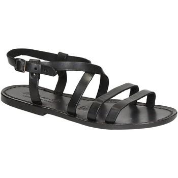 Schoenen Dames Sandalen / Open schoenen Gianluca - L'artigiano Del Cuoio 531 D NERO CUOIO nero