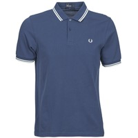 Textiel Heren Polo's korte mouwen Fred Perry SLIM FIT TWIN TIPPED Blauw