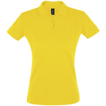 Textiel Dames Polo's korte mouwen Sols PERFECT COLORS WOMEN Amarillo