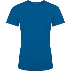 Textiel Dames T-shirts korte mouwen Proact T-Shirt femme manches courtes  Sport bleu marine