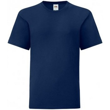 Textiel Jongens T-shirts korte mouwen Fruit Of The Loom Iconic Marine
