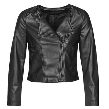 Textiel Dames Leren jas / kunstleren jas Only ONLDALY Zwart
