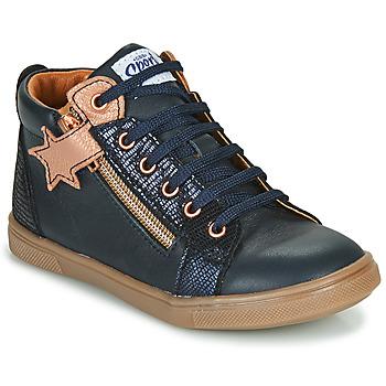 Schoenen Meisjes Hoge sneakers GBB VALA Marine / Roze