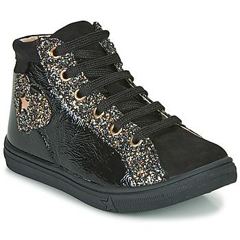 Schoenen Meisjes Hoge sneakers GBB MARTA Zwart