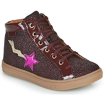 Schoenen Meisjes Hoge sneakers GBB TADEA Bordeaux