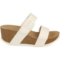Schoenen Dames Leren slippers Silvian Heach M-08 Blanco