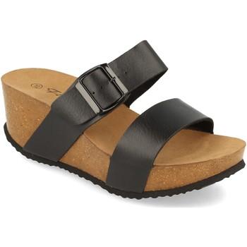 Schoenen Dames Leren slippers Silvian Heach M-08 Negro