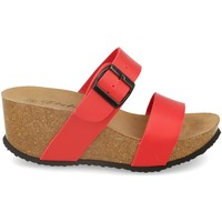 Schoenen Dames Leren slippers Silvian Heach M-08 Rojo