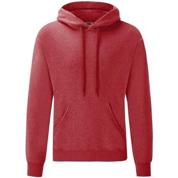 Textiel Heren Sweaters / Sweatshirts Fruit Of The Loom Hooded Heather Rood