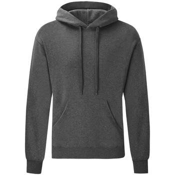 Textiel Heren Sweaters / Sweatshirts Fruit Of The Loom Hooded Donker Heather