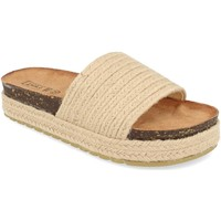 Schoenen Dames Leren slippers Silvian Heach L-19 Beige