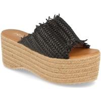Schoenen Dames Leren slippers Silvian Heach TS-6 Negro