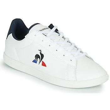 Schoenen Kinderen Lage sneakers Le Coq Sportif COURTSET GS Wit / Blauw