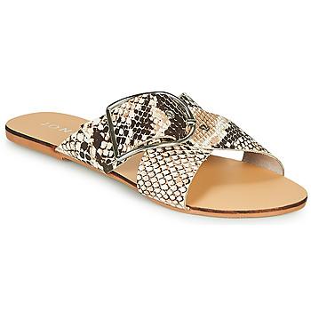 Schoenen Dames Leren slippers Jonak JASMINE Brown / Python
