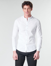 Textiel Heren Overhemden lange mouwen Casual Attitude MASS Wit