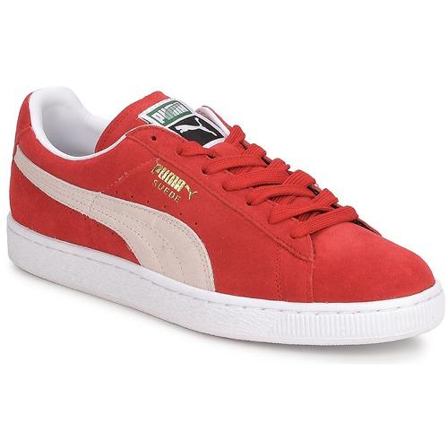 Schoenen Heren Lage sneakers Puma SUEDE CLASSIC + Rood / Wit