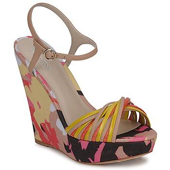 Schoenen Dames Sandalen / Open schoenen Bourne KARMEL Beige / Multikleuren