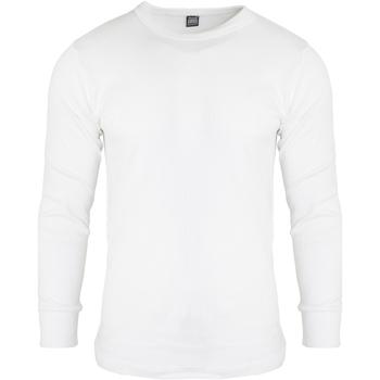 Textiel Heren T-shirts met lange mouwen Floso  Wit