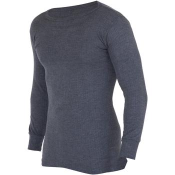 Textiel Heren T-shirts met lange mouwen Floso  Houtskool