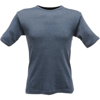 Textiel Heren T-shirts korte mouwen Regatta RG288 Denim