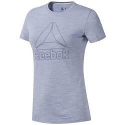 Textiel Dames T-shirts korte mouwen Reebok Sport TE Marble Logo Tee Gris