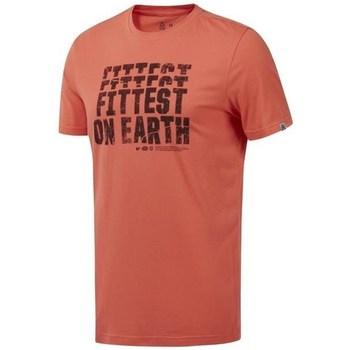 Textiel Heren T-shirts korte mouwen Reebok Sport RC Fittest ON Earth Orange
