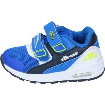Schoenen Jongens Lage sneakers Ellesse sneakers tessuto pelle sintetica Blu