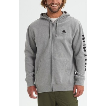 Textiel Heren Sweaters / Sweatshirts Burton Men's Elite Full Zip Hoodie Gray Heather