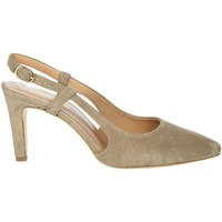 Schoenen Dames pumps Elena Del Chio 6006 Brown Taupe