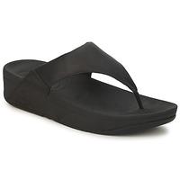 Schoenen Dames Slippers FitFlop LULU LEATHER Zwart