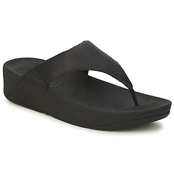 Schoenen Dames Slippers FitFlop LULU LEATHER Zwart