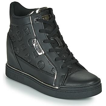 Schoenen Dames Hoge sneakers Guess FABIA Zwart