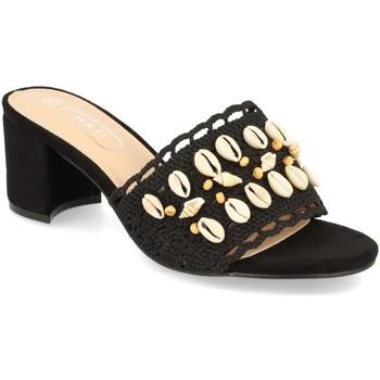 Schoenen Dames Leren slippers H&d YZ19-150 Negro